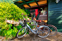 Biking in Hanalei Town